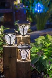 yard lighting ideas. DIY Ideas For The Outdoors - Cedar Cube Landscape Lights Best Do It Yourself Yard Projects Camping Patio And Spending Time In Garden Lighting