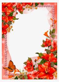 Paper With Flower Border Wedding Flowers Border Png Transparent Wedding Flowers