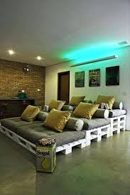 home theater ideas with palettes diy home theater