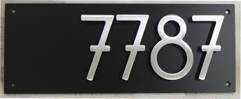 modern house numbers black with grey acrylic contemporary home address sign plaque door number