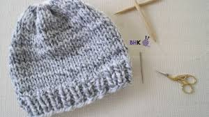 Easy Knit Hat Pattern Straight Needles New How To Knit A Hat For Complete Beginners YouTube