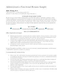 Functional Resume Sample For Career Change Samples Template