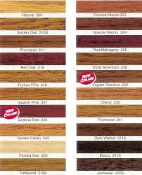 Hard Wood Flooring Stain Chart Minwax Minwax Stain Colors