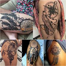 Dream Catcher Tattoo On Thigh Best 100 Thigh Tattoos Ideas Tight Tattoos Ideas with Meaning 98