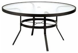 winston 48 in obscure glass top round patio dining table