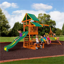 Swing Set With Glider | Wooden Swing Sets At Walmart | Cedar Summit  Playset. Tremendous Cedar Summit Playset for Cool Kids Playground Ideas: ...