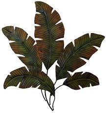tropical palm leaf wall art
