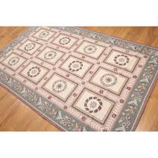 aubusson multicolor wool needlepoint french country area rug 6 x 9