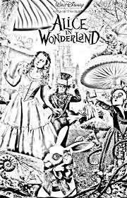 Tim Burton S Alice In Wonderland Coloring Pages Coloring Pages