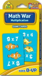 Math War Multiplication Flash Cards Etjbookservice