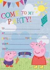 Invitations Card For Birthday Peppa Pig Theme Invitation Ebay