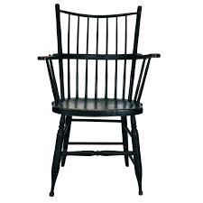 black windsor chairs. 18th Century Extended Arm Windsor Chair In Original Black Chairs