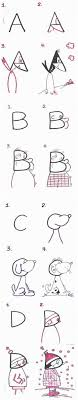 kids step by step drawing with numbers or alphabet as a base