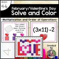 Valentines Day Solve Color Multiplication And Order Of