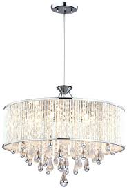 five light chrome clear crystals glass drum shade pendant with regard to amazing property chandelier plan unique drum chandelier