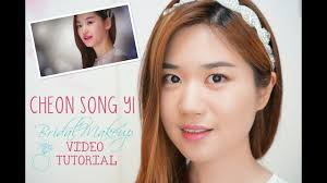 my love from the star cheon song yi bridal makeup tutorial