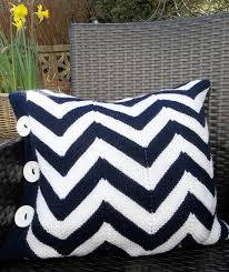 Knitted chevron pillow