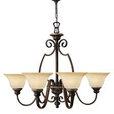 Hinkley Cello 6 Light Antique Bronze Shade Chandelier HK/CELLO6 ...
