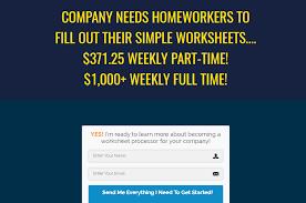 Worksheet Processor Jobs – Scam or Legit Way to Make Easy Money ...