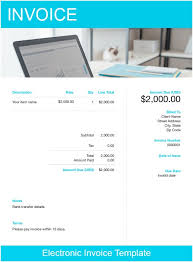 Electronic Invoice Template Electronic Invoice Template Free Download Send In Minutes