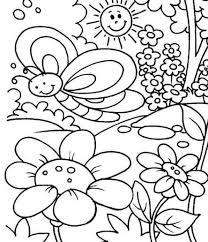 Fantastic Spring Coloring Sheets For Kids Frieze Printable