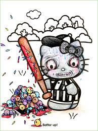 coloring book corruption hello kitty