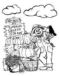 Pumpkin Patch Coloring Page Inside Pages
