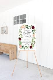 No Cell Phone Sign Printable Floral Watercolor Wedding Unplugged Ceremony Sign Wedding