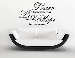 Small Picture LEARN LIVE HOPE VINYL WALL ART STICKERS Custom DesignsCustom Designs