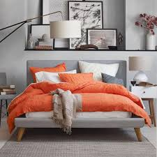 upholstered bed grey. Mod Upholstered Bed - Feather Grey