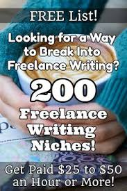 looking for a way to break into lance writing list  want to get paid to write online but you re not sure what to write about check out this list of lance writing niches you can choose from