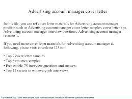 Account Director Cover Letter Senior Manager Cover Letter Sample