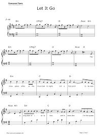 Solo piano arrangement of the classic beatles number, let it be. Let It Go Piano Sheet Music Easy Letters Download