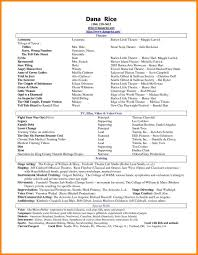 Resume Special Skills Acting Resume Special Skills Best Solutions Of Acting Resume Special 15