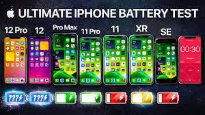 iPhone 12 vs iPhone 12 Pro / 11 Pro Max / 11 Pro / 11 / XR / SE Battery  Life DRAIN Test. - YouTube