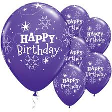 Happy Birthday Sparkle Purple Latex 50pk Party Supplies Canada