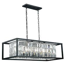 rectangle crystal chandelier rectangular fabric and modern linear island dining room large