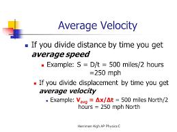 5 average velocity