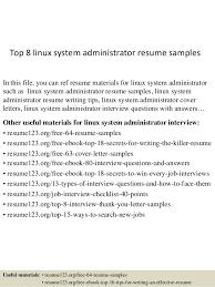 top 8 linux system administrator resume samples top 8 linux system administrator resume samples in this kronos systems administrator resume