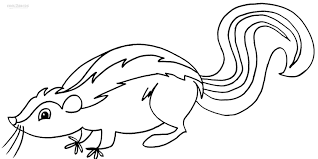 Small Picture Printable Skunk Coloring Pages For Kids Cool2bKids