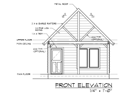 a blueprint of a finished cabin