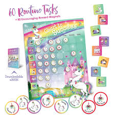 Unicorn Star Chart Buy Unicorn Chart To Success Magnetic Dry Erase Daily