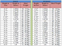 Height Weight Chart Women Kg Ideal Weightchart For Men Women Weight Charts Height