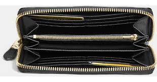 Lyst - Coach Accordion Zip Wallet In Ocelot Print Crossgrain Leather in Blue