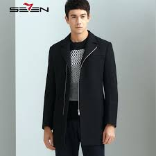 long black trench coat men brand stylish winter jacket wool cashmere slim male woolen overcoat mens