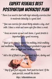 expert reveals best postpartum workout