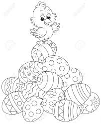 Easter Colouring Pages Chicks With Chick Coloring Hd Images