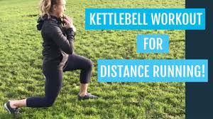 distance running weight workout with a kettlebell