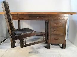 frank lloyd wright designed chair desk larkin building buffalo ny van dorn iron