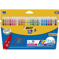 <b>Фломастеры цветные BIC</b> Kids Kid Couleur, 24 цвета — купить в ...